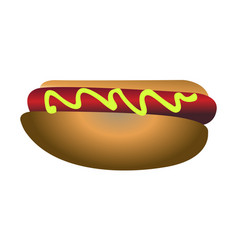 isolated hot dog vector image