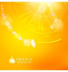 Technological background of orange cogwheel vector image