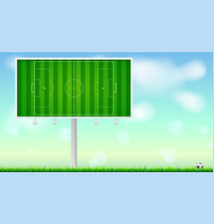 european football soccer field on horizontal vector image vector image