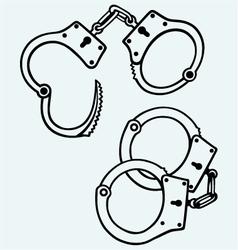Handcuffs silhouettes vector