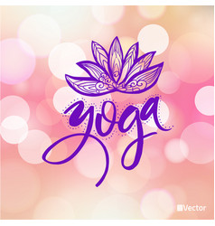 logo for yoga studio or meditation class spa logo vector image vector image