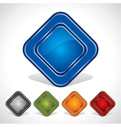 modern and stylish glossy icon vector image