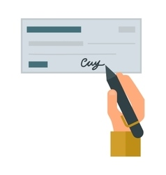 Money check vector image