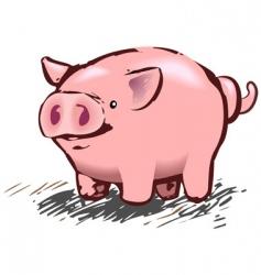 pig illustration vector image