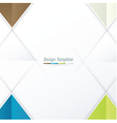 template triangle design brown white blue green vector image
