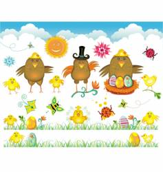 easter elements vector image vector image