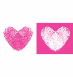 Heart thumbprints vector