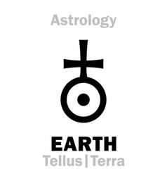 astrology sign of earth tellus terra vector image