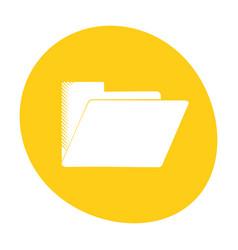 folder file document archive icon color vector image
