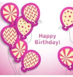 Happy birthday retro postcard with pattern vector image vector image