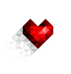 heart with shadow vector image