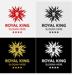 lion king star logo template vector image vector image