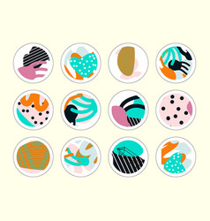 Set of decor elements and stickers vector