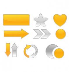 web elements vector image vector image