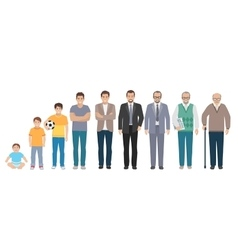 All Age Generation Men Set vector