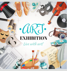Art exhibition vector