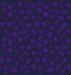 Bacterium creative seamless pattern in vector