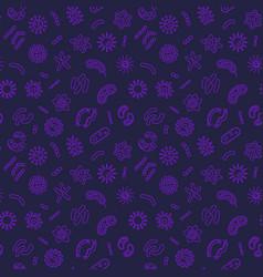 Bacterium creative seamless pattern vector