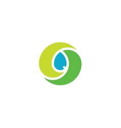 bio leaves and water drop logo icon symbol vector image