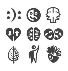 Bipolar icon vector