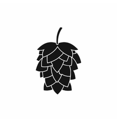 Black hop cone icon simple style vector