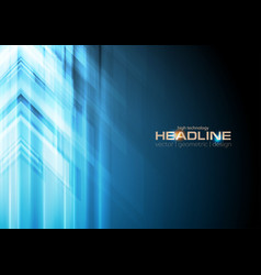 blue arrows abstract technology background vector image