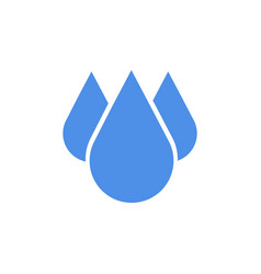 blue drop icon in flat design vector image