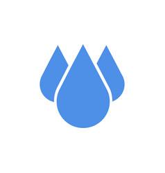 Blue drop icon in flat design vector