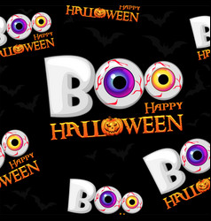 boo seamless pattern texture happy halloween vector image