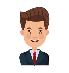 Businessman character cheerful portrait people vector