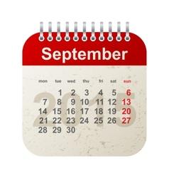 calendar 2015 - september vector image