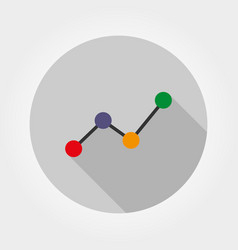 chart diagram icon flat vector image