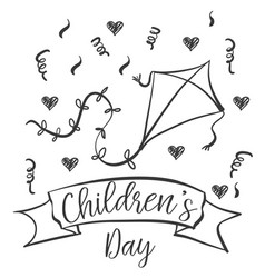 Children day hand draw design collection vector