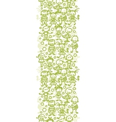 Children playing vertical seamless pattern vector image