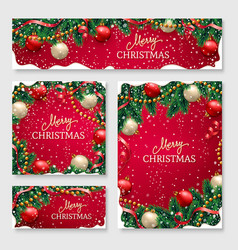 christmas design for poster for website header vector image