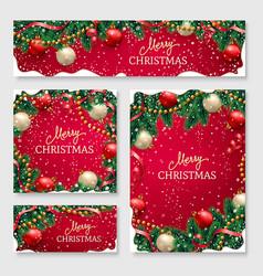 Christmas design for poster for website header vector