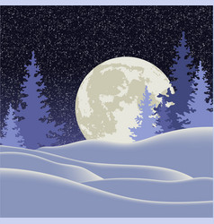 christmas night winter vector image