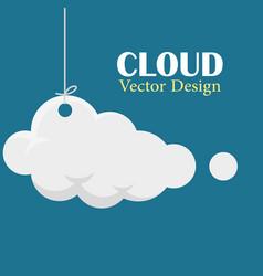 cloud design template hanging cloud dark bl vector image