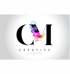 Cm vibrant creative leter logo design vector