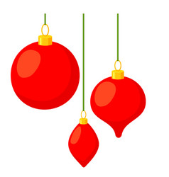 colorful cartoon christmas tree decorations vector image