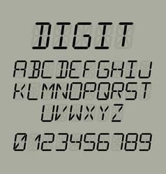 Digit font vector