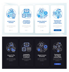Digital inclusion onboarding mobile app page vector