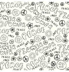Doodles inscription Flower Power vector image