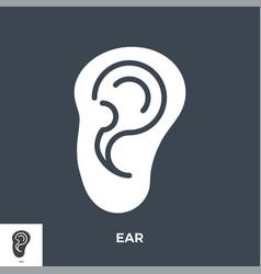 ear glyph icon vector image