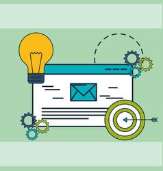 email target idea innovation digital marketing vector image
