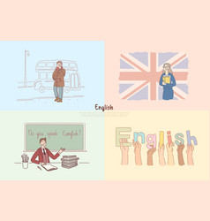 english classes great britain sightseeing tour vector image