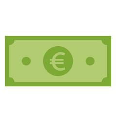 euro icon on white background flat style euro vector image
