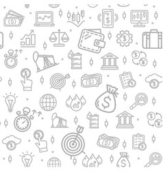 finance investment signs seamless pattern vector image