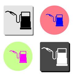gasoline filling station flat icon vector image