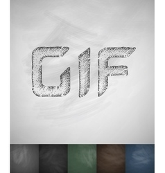GIF icon Hand drawn vector